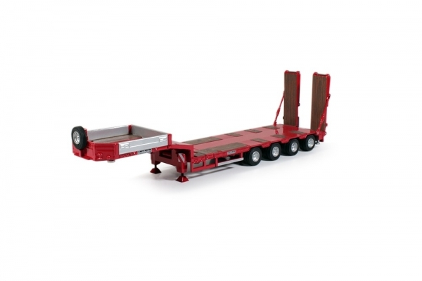 Trailer - Dorseler Goldhofer Low-Loader 4 Aks Kırmızı Dorse Trailer