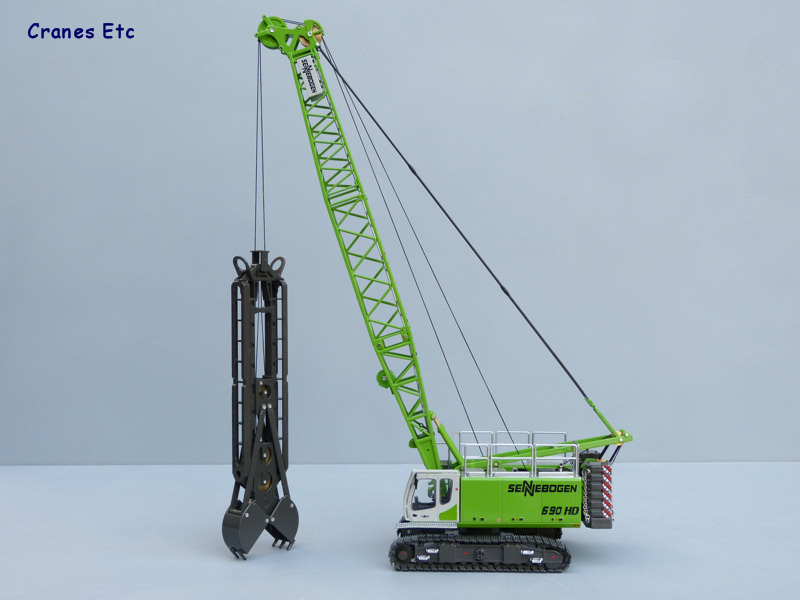 Sennebogen 690 HD Crawler Crane with Diaphragm Wall Grab Vinçler